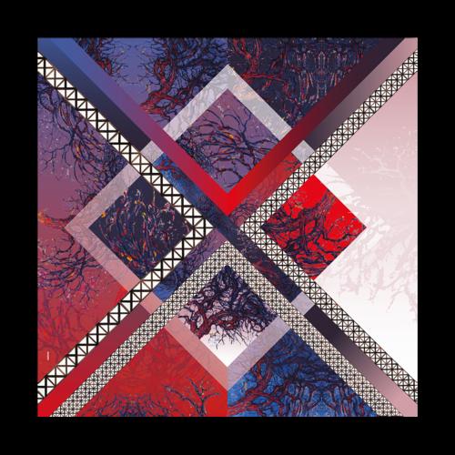 Mondriaal sjaal XL 100% zijde