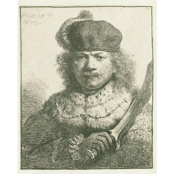 Set von 4 Rembrandt Repliken