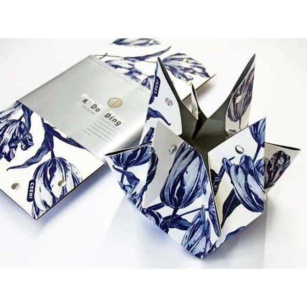 Vouwvaas Delfts blauwe tulpen