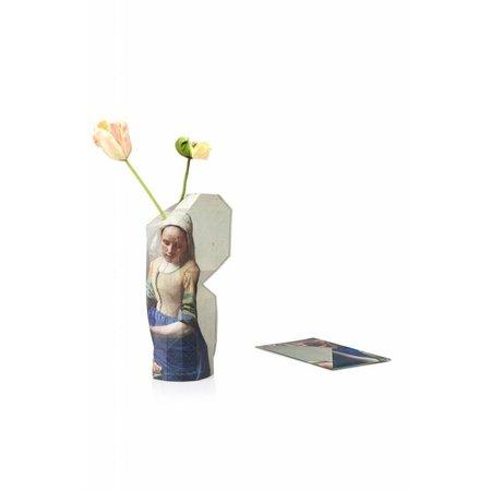 Vase en papier Laitière