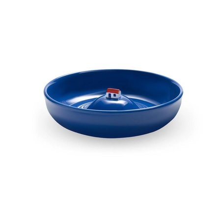 House in a bowl - blue