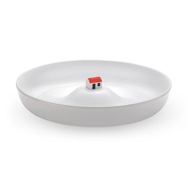 Maison dans un bol blanc