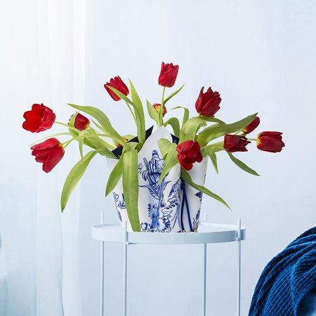 Vase à noeud bleu de Delft