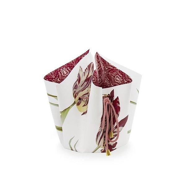 Bow vase tulips