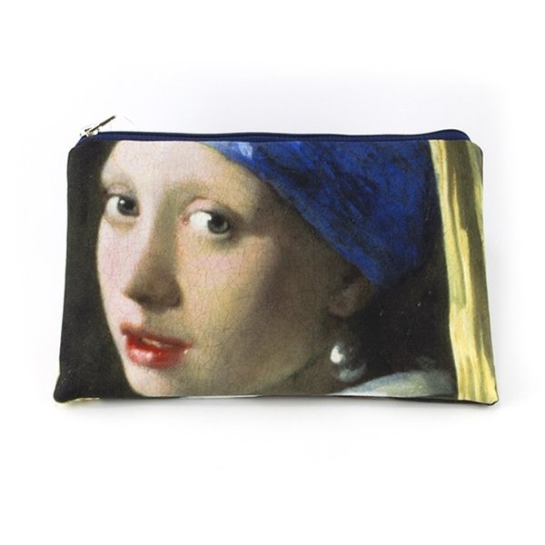 make-up bag - Girl with a pearl