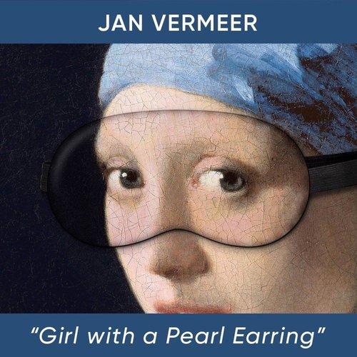 Fille avec le masque de sommeil perle