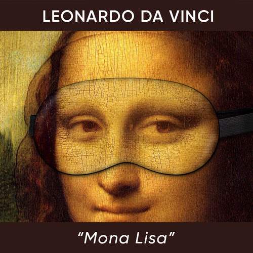 Mona Lisa sleeping mask