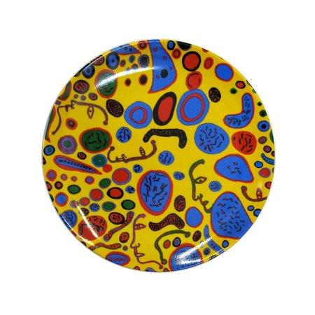 """Yayoi Kusama """"Liebe war unendlich"""" glänzende Keramikplatte"""