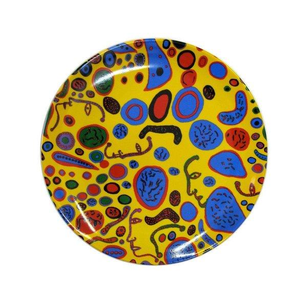"""Yayoi Kusama Assiette en céramique brillante """"L'amour était infini"""""""