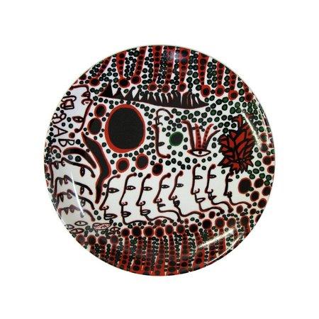 "Yayoi Kusama ""Frauen warten auf Liebe"" Keramik Teller"