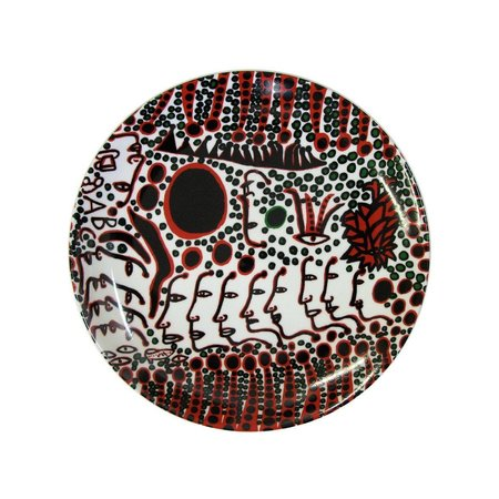 "Yayoi Kusama  ""Women Wait for Love"" Ceramic Plate"
