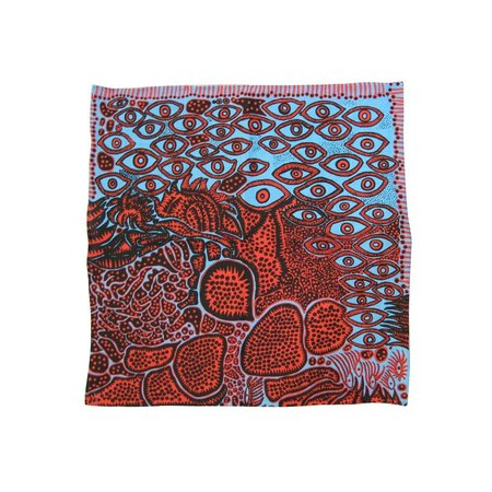 "Yayoi Kusama ""Eyes of Mine"" handkerchief pocket square"