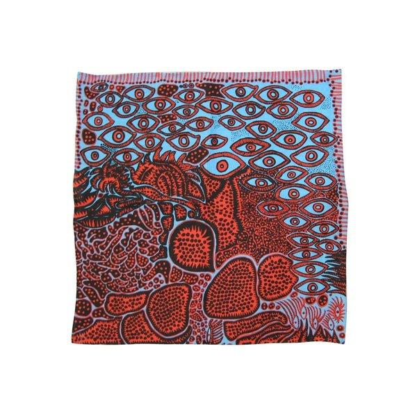 """Yayoi Kusama """"Eyes of Mine"""" handkerchief pocket square"""