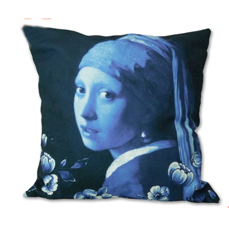 Cushion cover Girl with a pearl