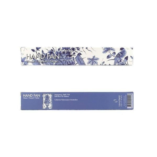 Éventail Delft bleu