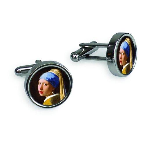 Manschettenknöpfe - Mädchen mit Vermeers Perle