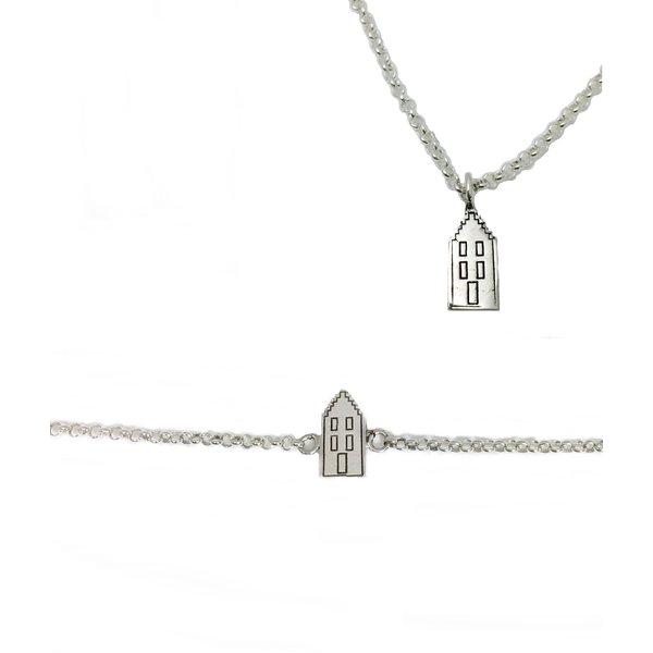 Collier et bracelet de maison de canal
