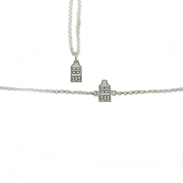 Canal house necklace and bracelet