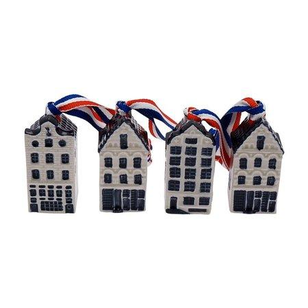 4 maisons de canal sur ruban