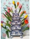 Tulpenvase Rijksmuseum Blau weiß