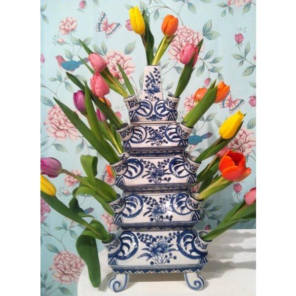 Tulip vase Rijksmuseum Blue white