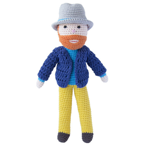 Van Gogh crocheted doll