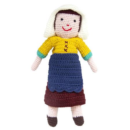 Milkmaid from Vermeer crochet doll
