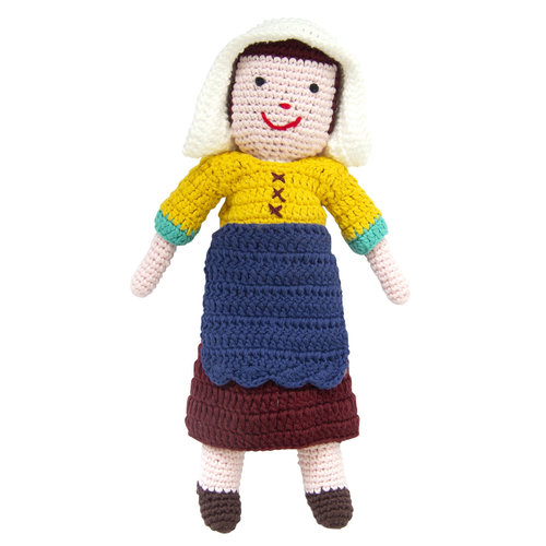 Milkmaid from Vermeer crochet doll