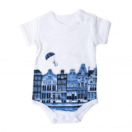 Baby Delft blue baby bodysuit