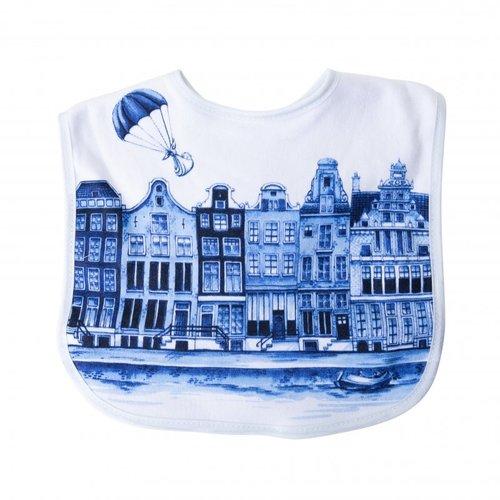 Baby slabber Delfts blauw