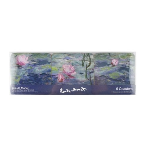 Monet water lilies coasters
