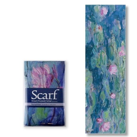 Monet scarf water lilies