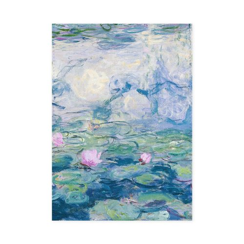Monet tea towel water lilies