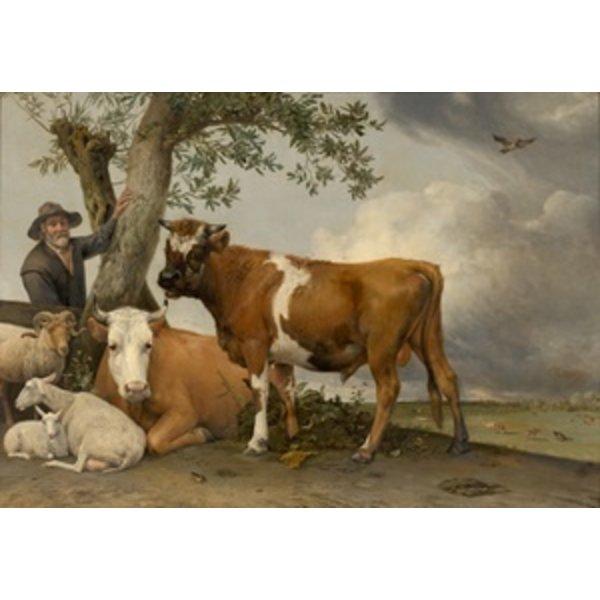 Plat à beurre avec vache