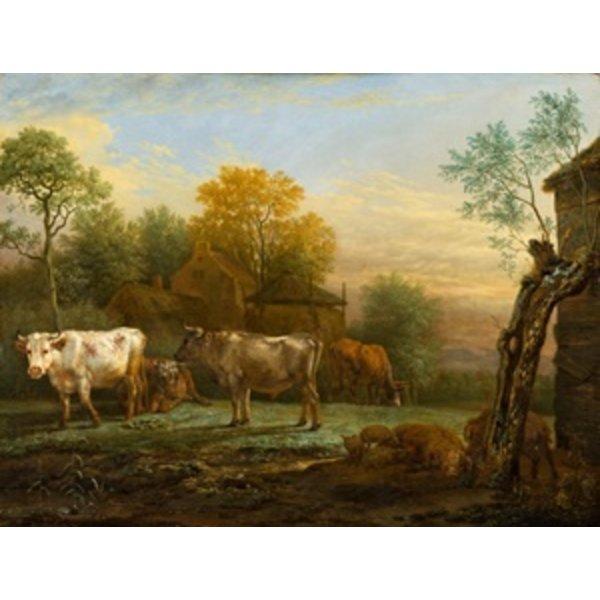 Butterdose mit Kuh
