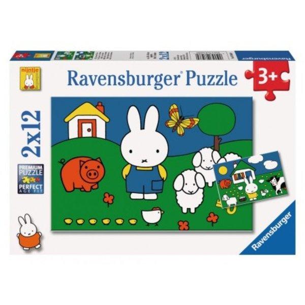 """2 x puzzle Miffy """"Avec les animaux"""""""