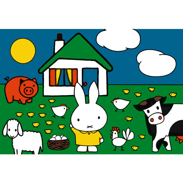 "2 x Miffy puzzle ""With the animals"""
