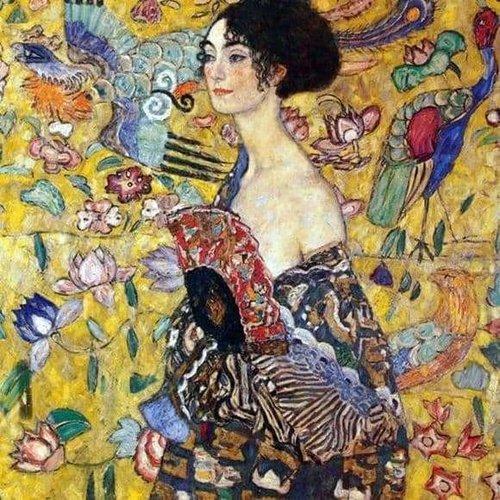 """Klimt puzzel """"Lady with fan"""""""