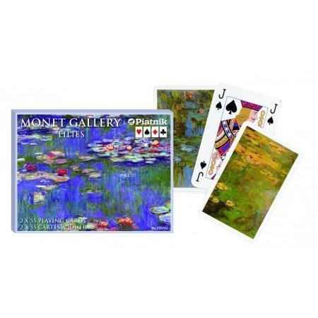 Set of playing cards Monet water lilies
