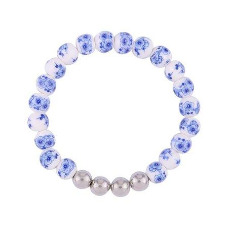 """Ensemble bracelet Delft bleu """"Dutch lady"""""""