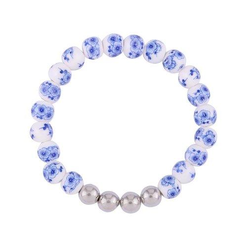 """Bracelet set Delft blue """"Dutch lady"""""""