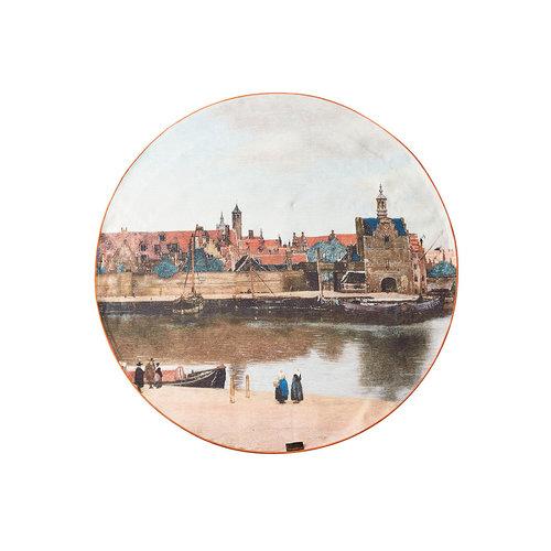 Vue du tissu de Delft