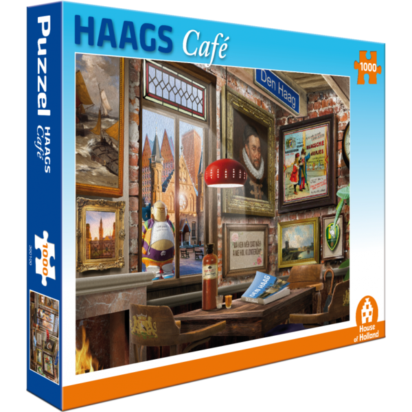 Puzzel Haags café