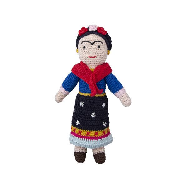 Frida Kahlo crochet doll