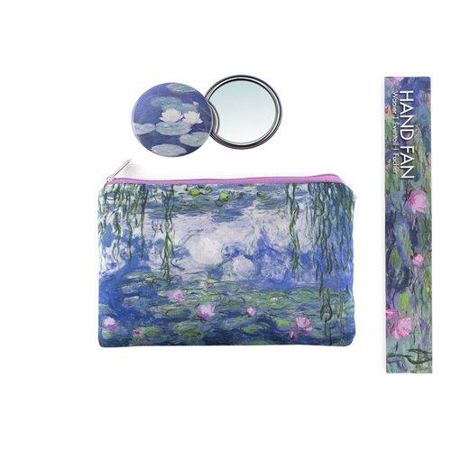 Etui Monet met spiegel en waaier