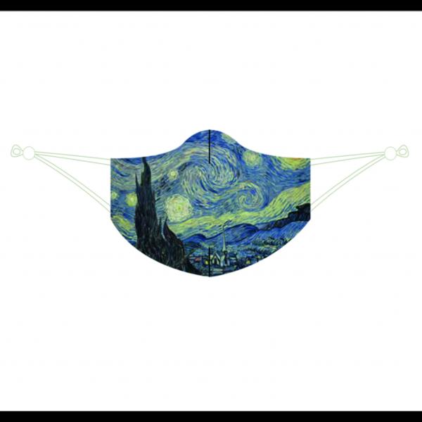 Maske Mund Nase Vincent van Gogh Sternennacht