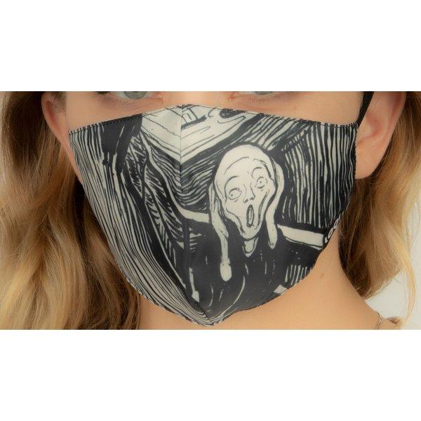 Face mask The scream of Edvard Munch