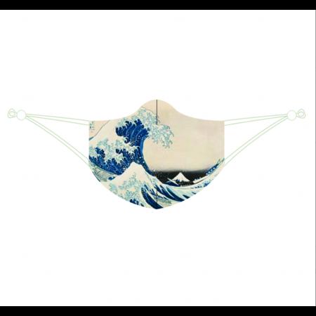 Face mask De grote golf van Katsushika Hokusai