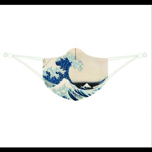 Gesichtsmaske Die große Welle von Katsushika Hokusai