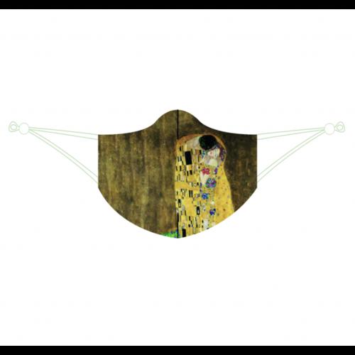 Face mask Klimt's kiss